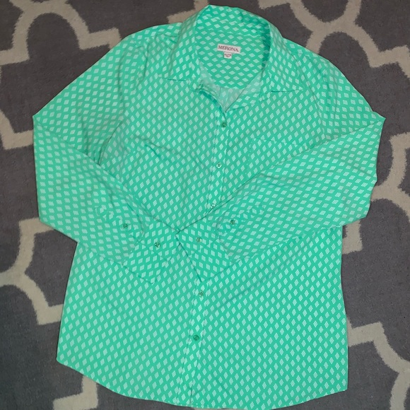 Merona Tops - Women's XL line green button up!